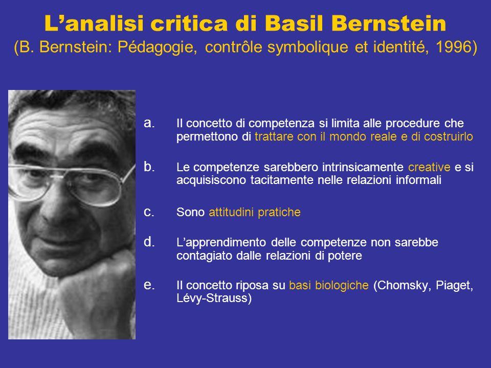 Lanalisi critica di Basil Bernstein (B.