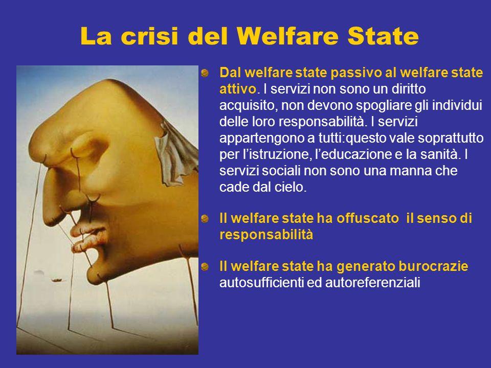 La crisi del Welfare State Dal welfare state passivo al welfare state attivo.