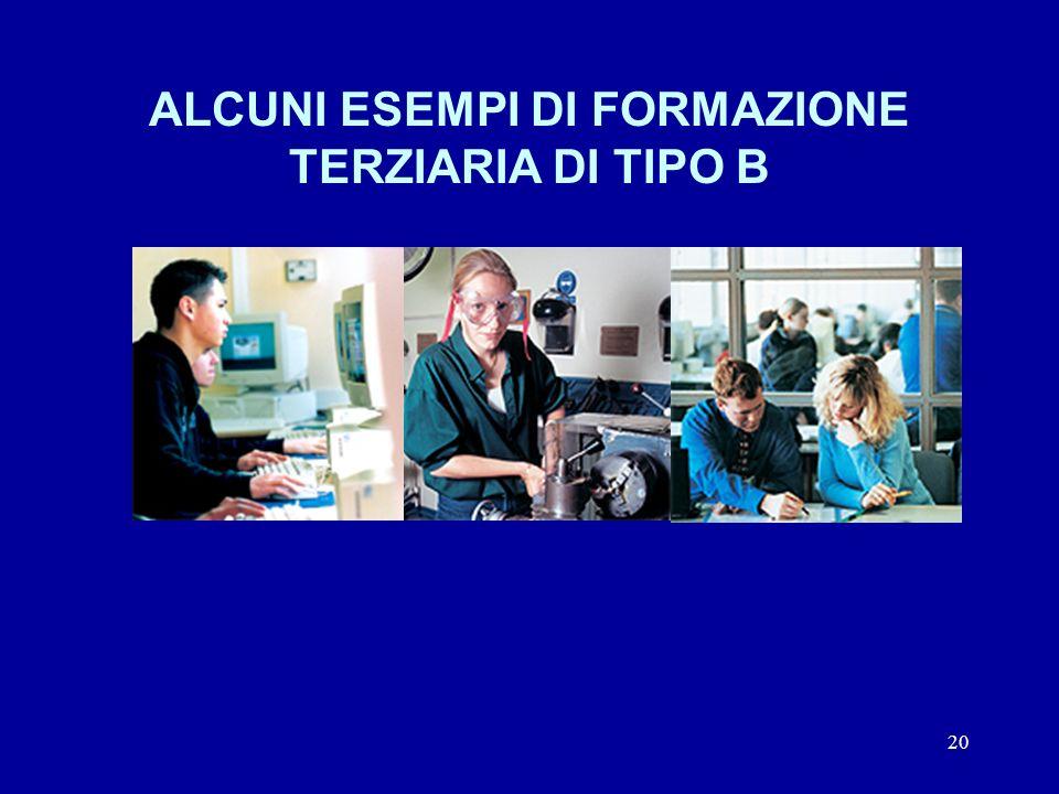 20 ALCUNI ESEMPI DI FORMAZIONE TERZIARIA DI TIPO B