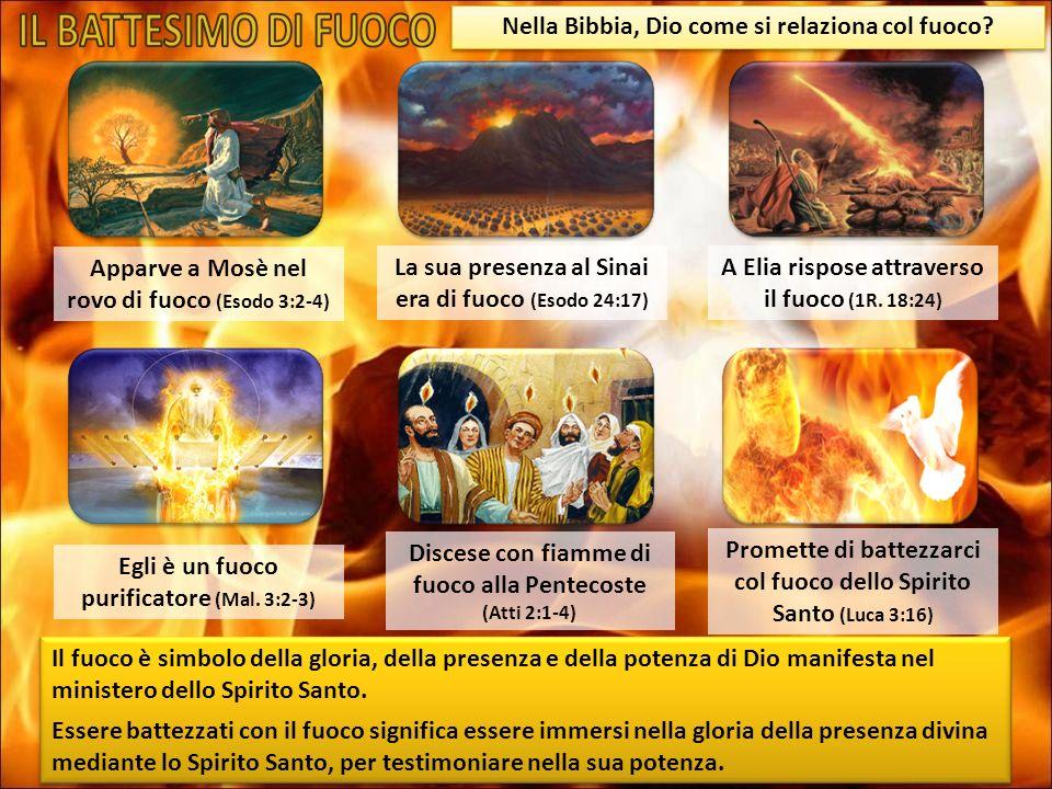 Nella Bibbia, Dio come si relaziona col fuoco? Il fuoco è simbolo della gloria, della presenza e della potenza di Dio manifesta nel ministero dello Sp