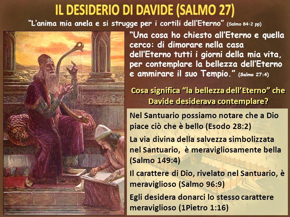 Nel Santuario possiamo notare che a Dio piace ciò che è bello (Esodo 28:2) La via divina della salvezza simbolizzata nel Santuario, è meravigliosament