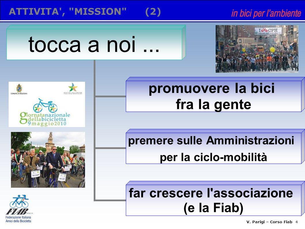 V. Parigi – Corso Fiab 3 SU DI NOI(1.2) ruolo delle due gambe per il rafforzamento numerico e organizzativo utenti e/o amici della bicicletta?