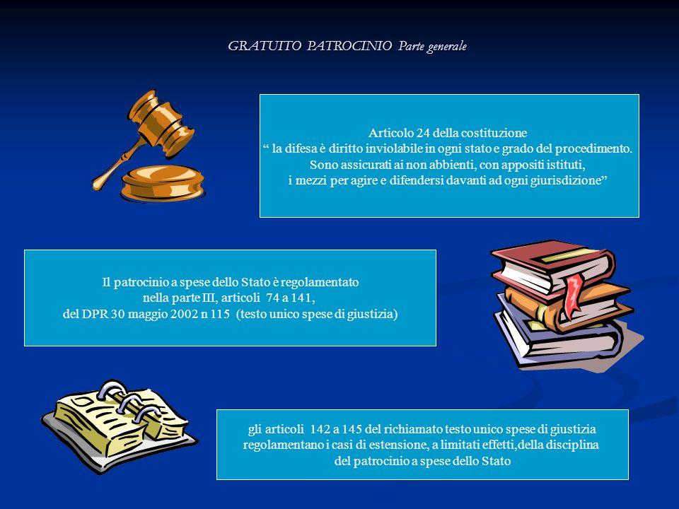 GRATUITO PATROCINIO Effetti dellammissione PROCESSO PENALE ===== PROCESSO CIVILE ====== Azione risarcimento danni nel processo penale ======