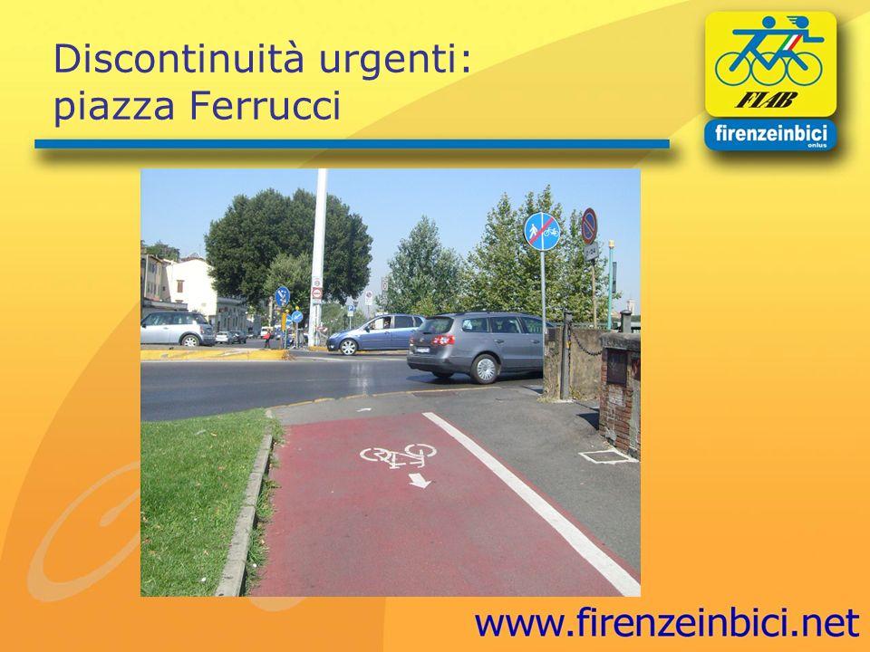Discontinuità urgenti: piazza Ferrucci