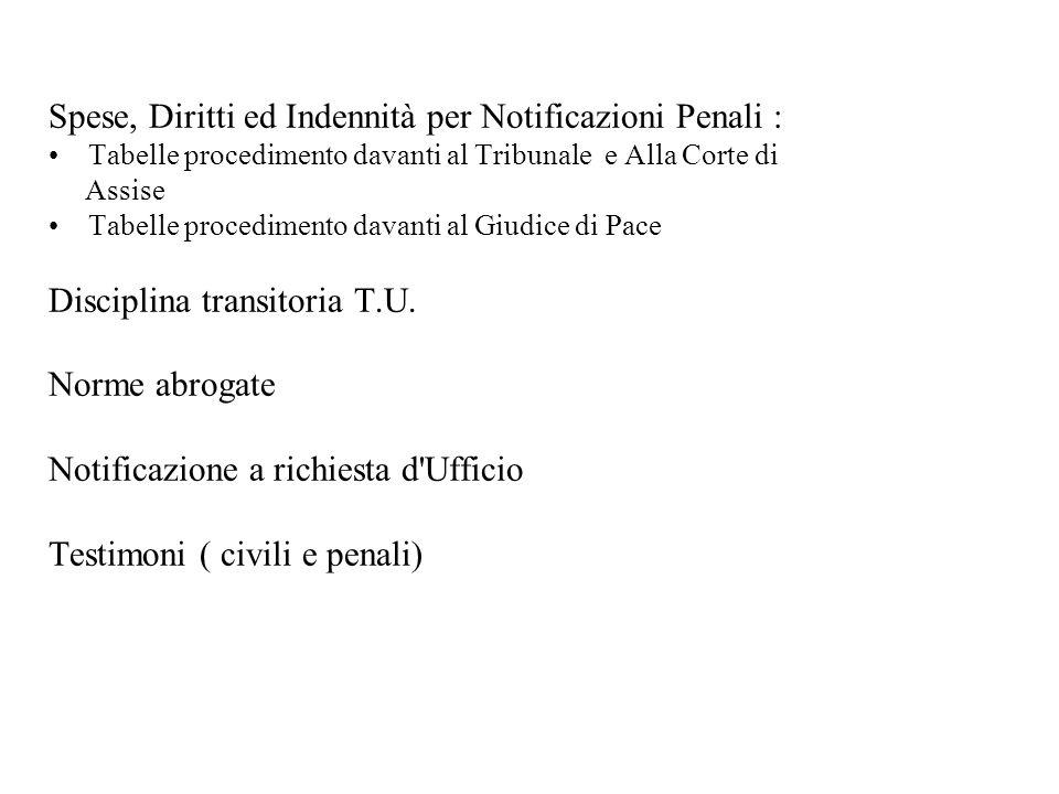 ART.135 (Norme particolari per alcuni processi) 1.
