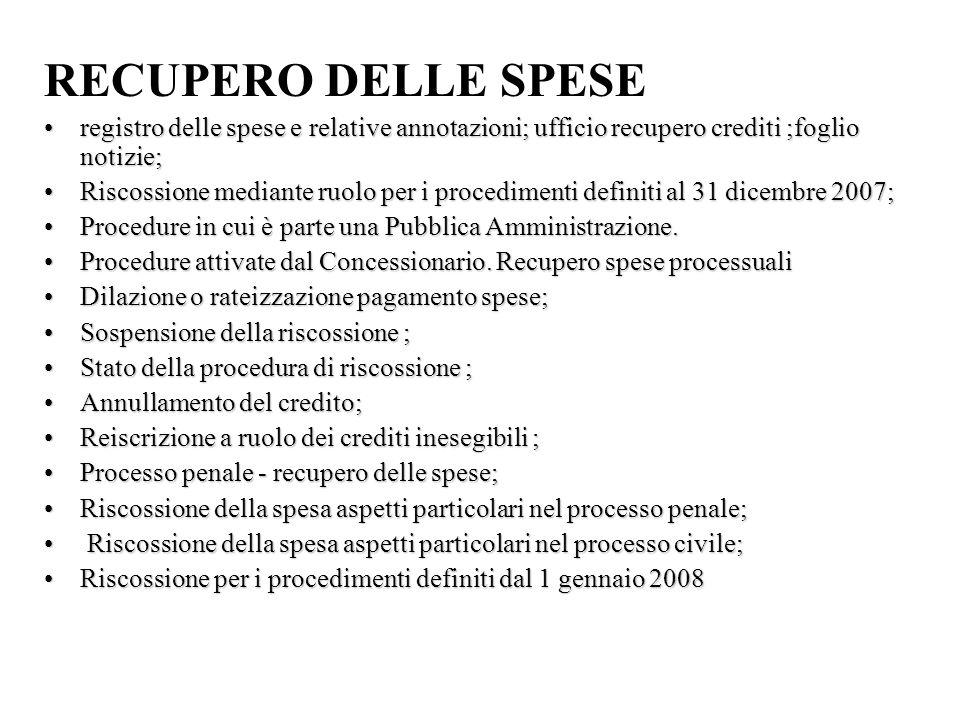 FASCICOLI PROCESSUALI Art.36 disp. att. c.p.c.