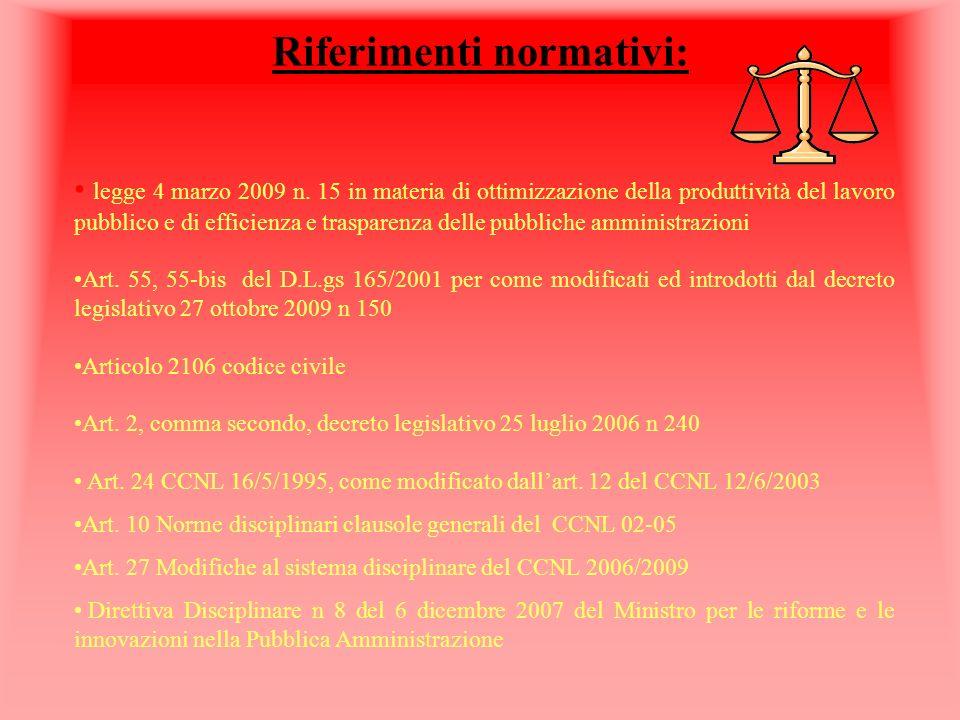 Riferimenti normativi: legge 4 marzo 2009 n.