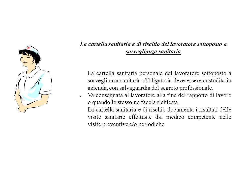 . La cartella sanitaria e di rischio del lavoratore sottoposto a sorveglianza sanitaria La cartella sanitaria personale del lavoratore sottoposto a so