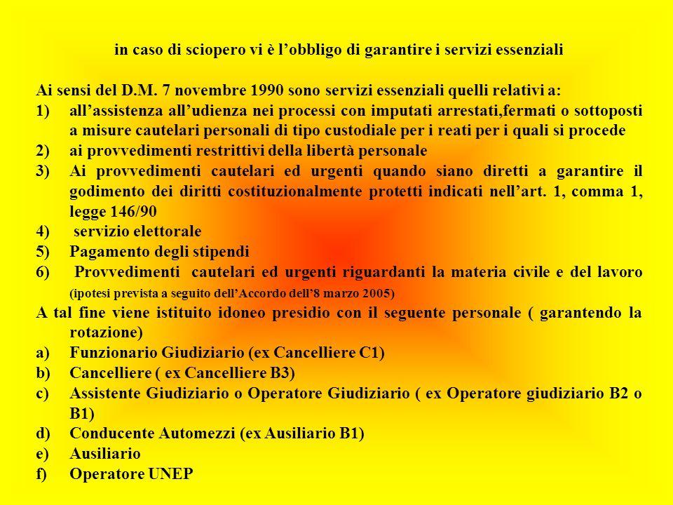 in caso di sciopero vi è lobbligo di garantire i servizi essenziali Ai sensi del D.M.