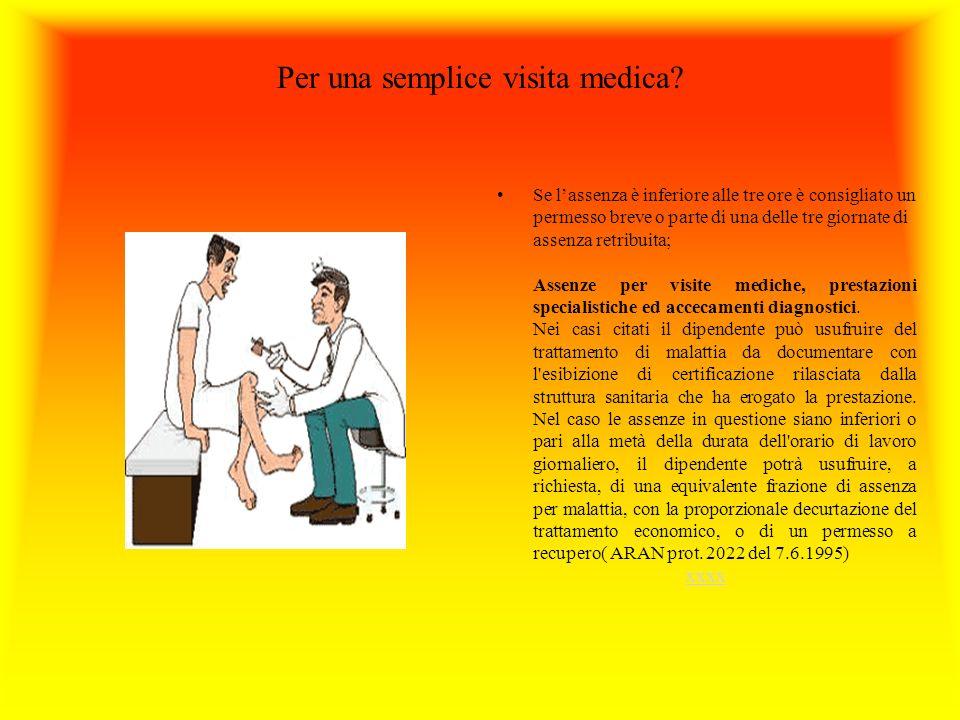 Per una semplice visita medica.