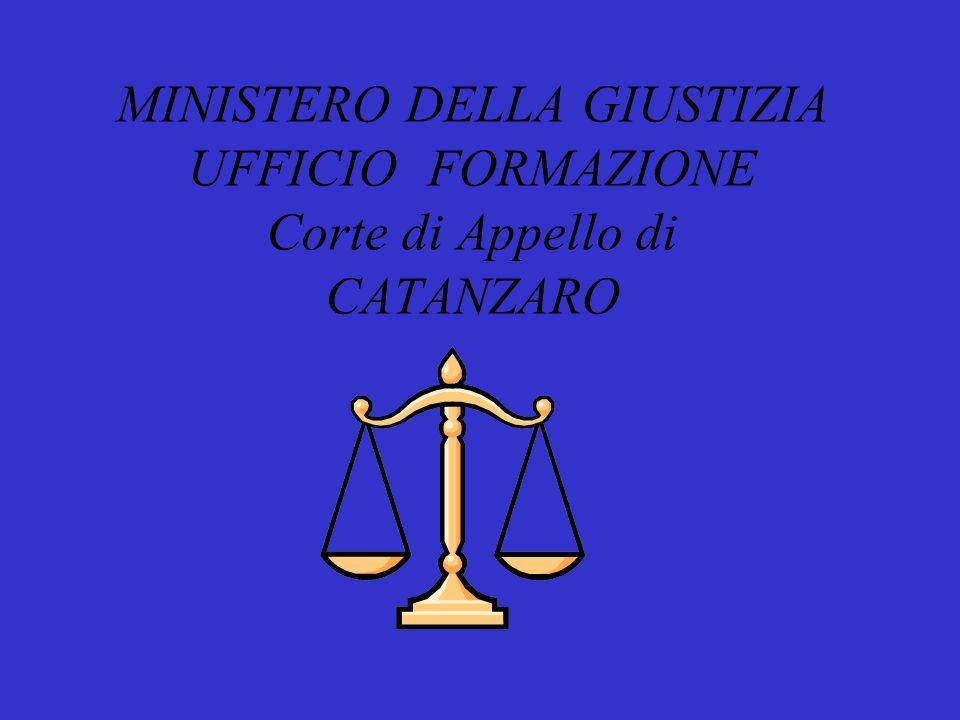 Corso di Formazione Operatori giudiziari Novembre/dicembre 2011 Gennaio 2012 A cura del dottor CAGLIOTI GAETANO WALTER ( Dirigente Tribunale di Vibo Valentia )