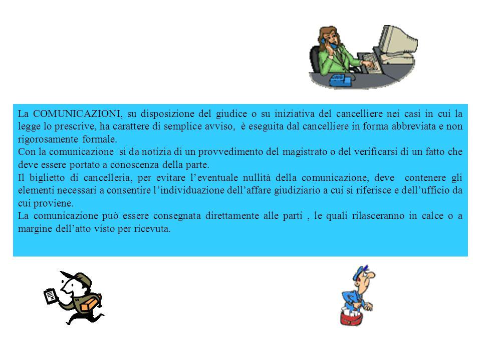 Art.136 c.p.c.Comunicazioni.