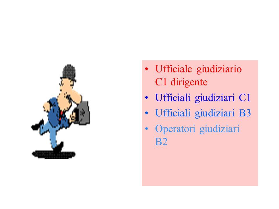Ufficiale giudiziario C1 dirigente Ufficiali giudiziari C1 Ufficiali giudiziari B3 Operatori giudiziari B2