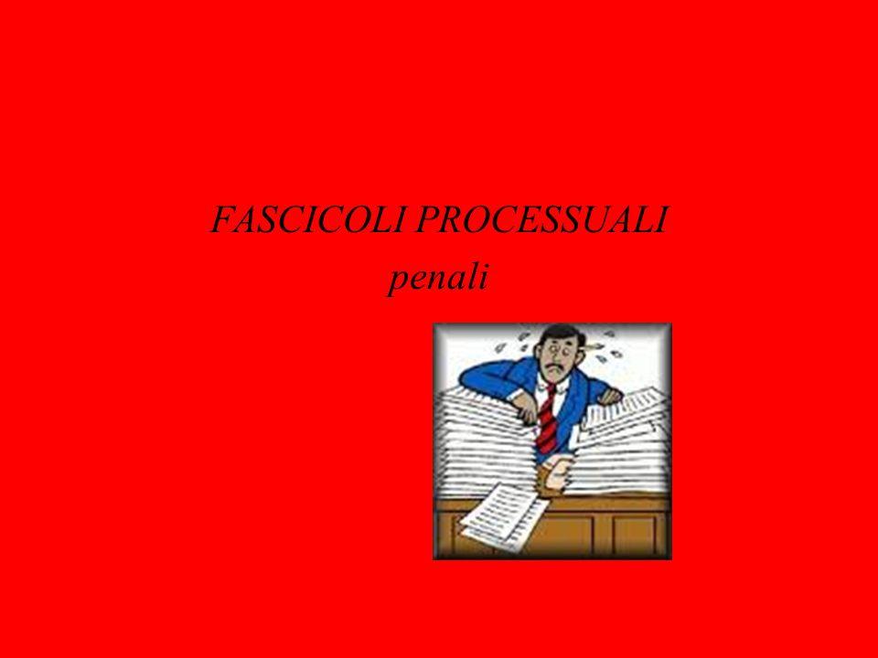 FASCICOLI PROCESSUALI PENALE Articolo 3 D.M.30 settembre 1989 n.