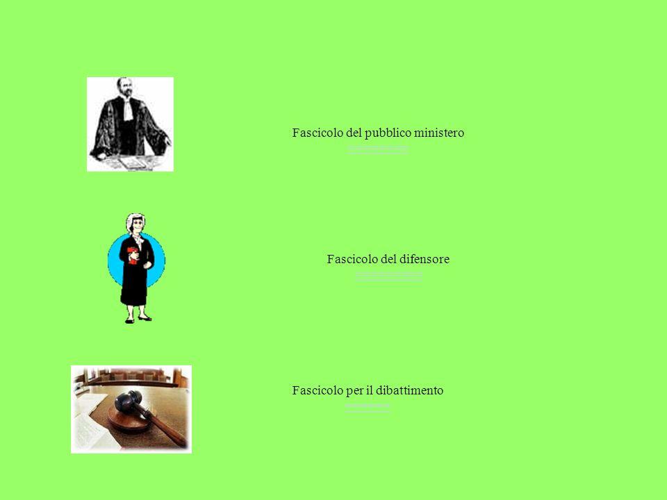 Fascicolo per il dibattimento ====== ====== Fascicolo del pubblico ministero ======== ======== Fascicolo del difensore ========= =========