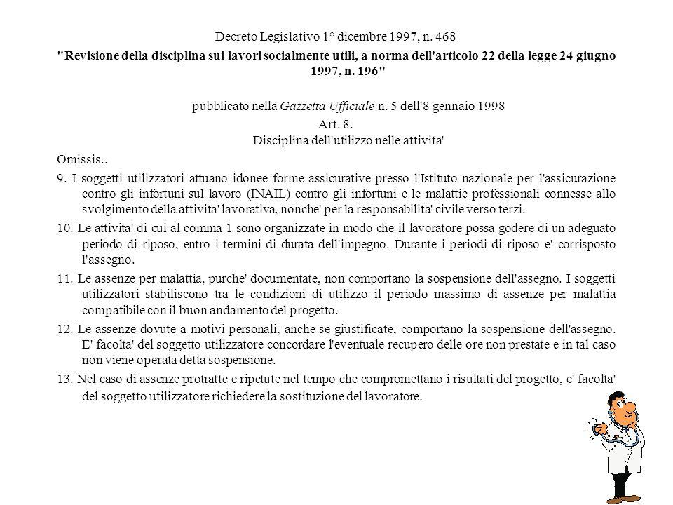 Decreto Legislativo 1° dicembre 1997, n. 468