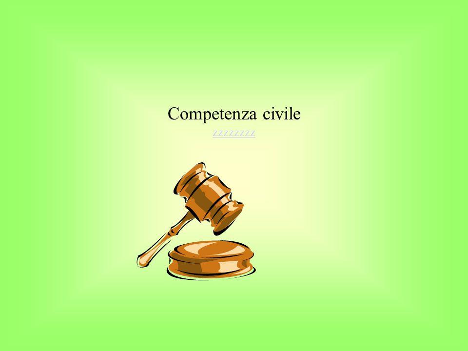 Competenza civile zzzzzzzz