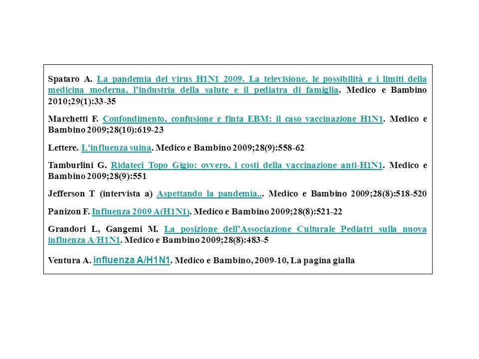 Spataro A.La pandemia del virus H1N1 2009.