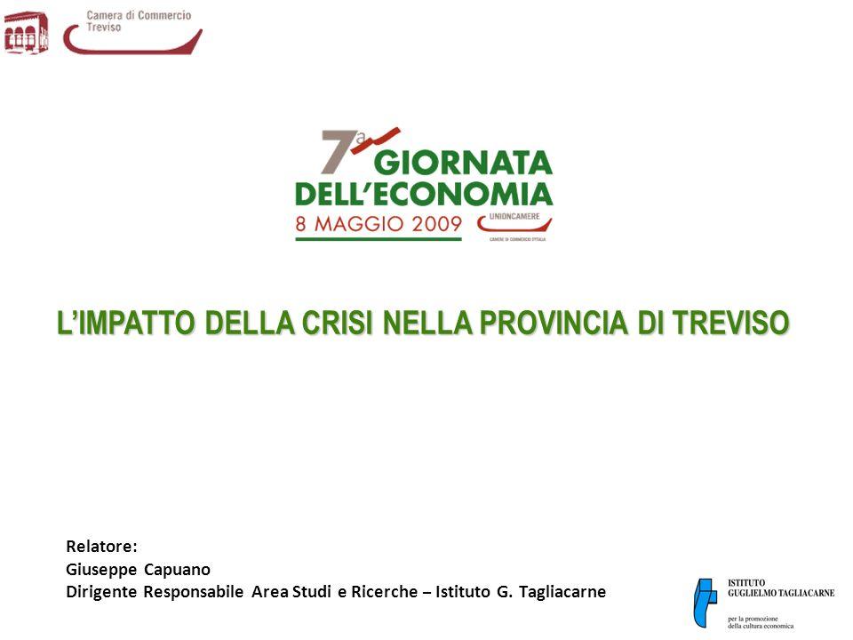 12 LE PECULIARITÀ DELLECONOMIA TREVIGIANA DENTRO LA CRISI Un ulteriore fattore di preoccupazione per leconomia trevigiana, come del resto per buona parte delle altre realtà della regione, è che tra i suoi mercati di sbocco più importanti risultano quelli dellEuropa dellEst, che attraggono il 20,7% delle esportazioni totali contro il 18,5% del Veneto (con punte del 23,2% a Padova) e il 14,2% dellItalia.