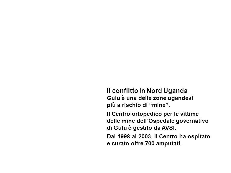 Il conflitto in Nord Uganda Gulu è una delle zone ugandesi più a rischio di mine.