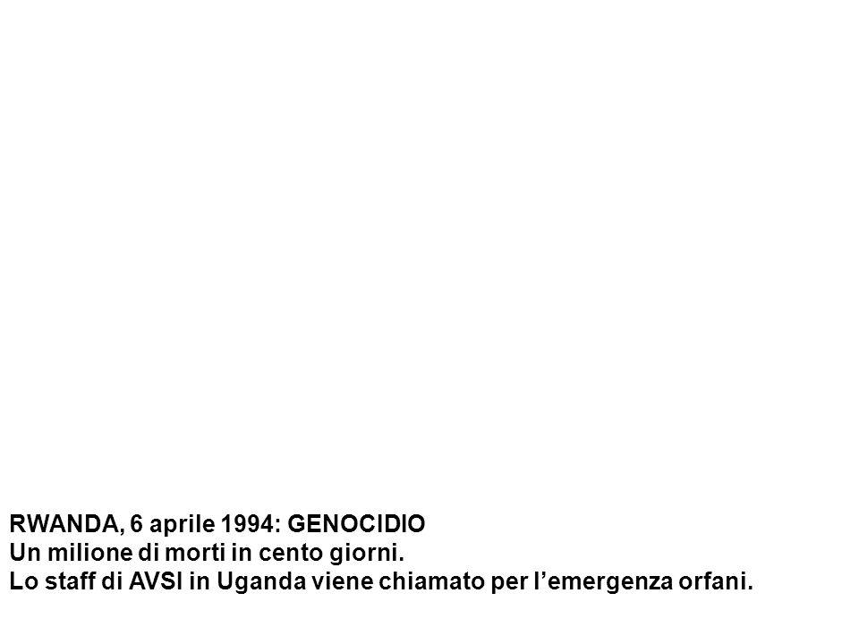 RWANDA, 6 aprile 1994: GENOCIDIO Un milione di morti in cento giorni.
