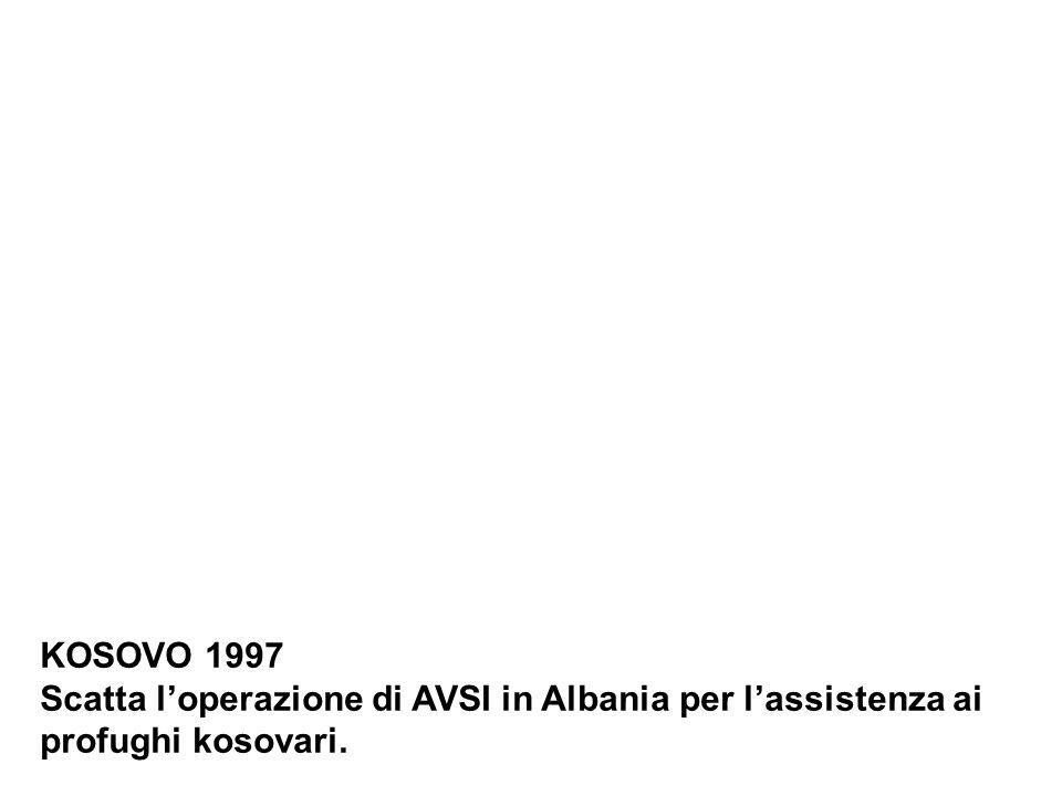 KOSOVO 1997 Scatta loperazione di AVSI in Albania per lassistenza ai profughi kosovari.