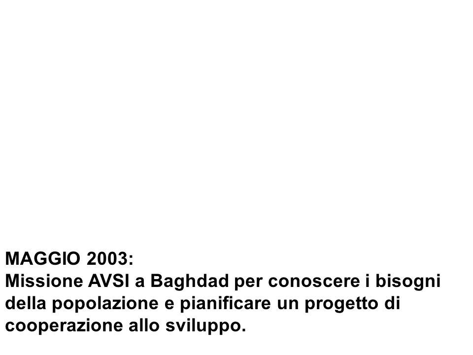 Dic. 2003: AVSI in Iraq per la ricostruzione di scuole e asili della Chiesa Caldea.