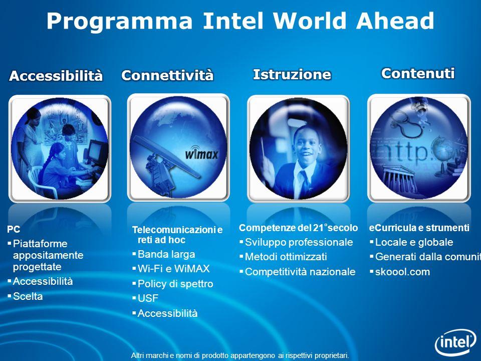 I programmi dell Iniziativa Intel Education sono finanziati dalla Intel Foundation e da Intel Corporation.