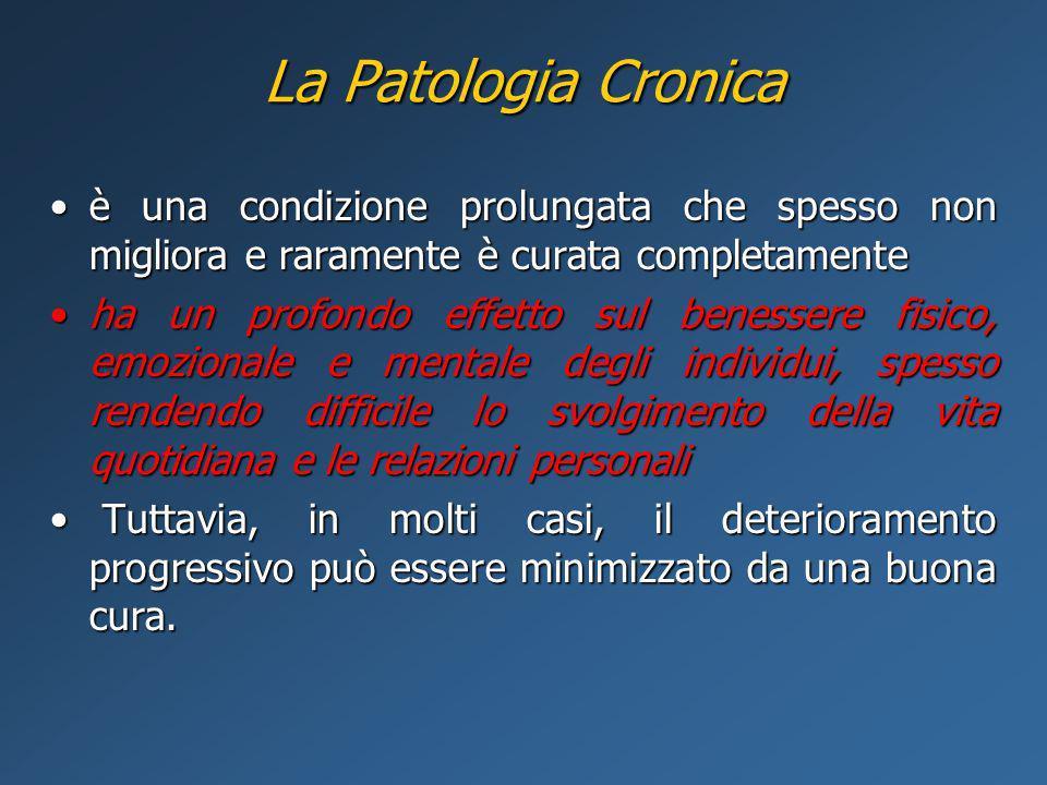 La Patologia Cronica è una condizione prolungata che spesso non migliora e raramente è curata completamenteè una condizione prolungata che spesso non