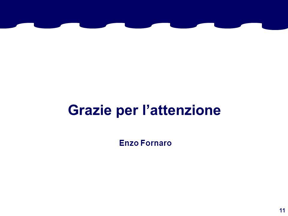 11 Grazie per lattenzione Enzo Fornaro