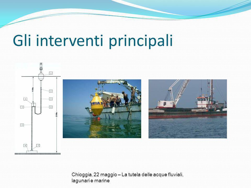 Gli interventi principali Chioggia, 22 maggio – La tutela delle acque fluviali, lagunari e marine