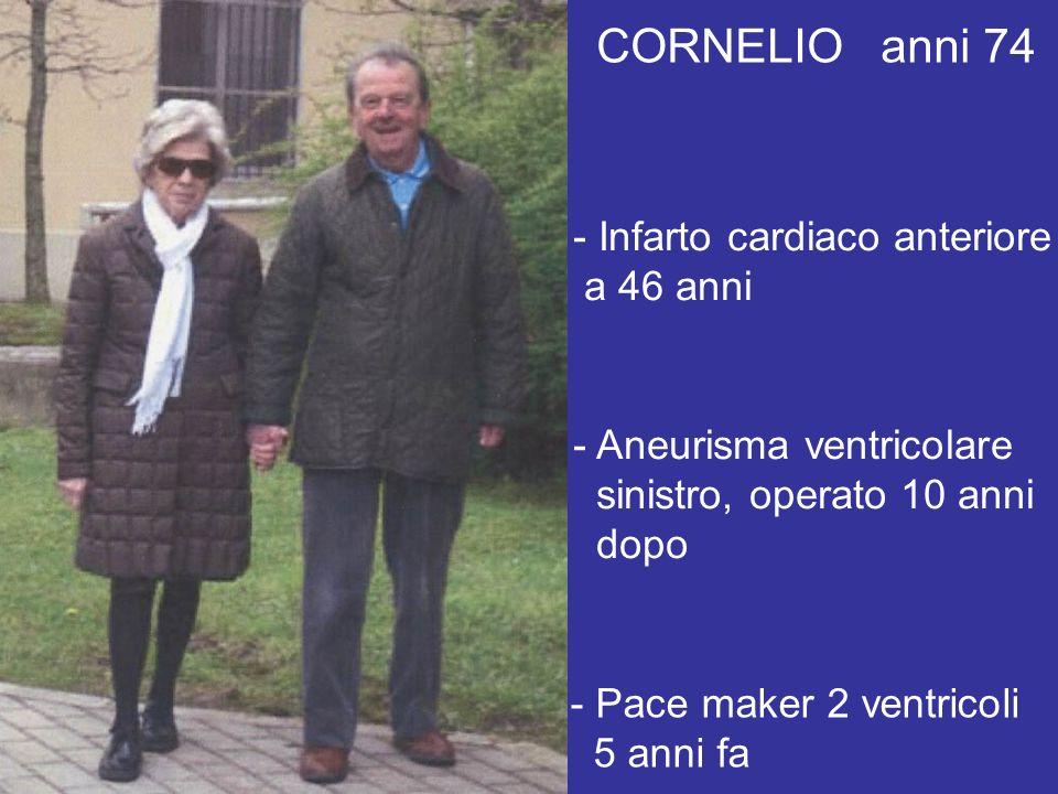 MAURIZIO anni 55 - By-pass aortocoronarico a 34 anni - Angina da sforzo 10 anni dopo, controllata dai farmaci - Quattro anni fa angioplastica con STENT - Persiste angina da sforzi intensi (150 Watts; F.C.130)