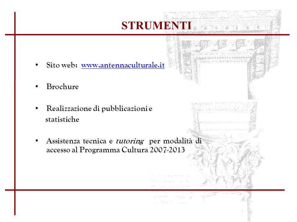EACEA - UTILITIES Programma Cultura (2007-2013) http://ec.europa.eu/culture/index_en.htm (Direzione generale dellIstruzione e della cultura)http://ec.europa.eu/culture/index_en.htm http://eacea.ec.europa.eu/index_en.php (Agenzia Esecutiva per listruzione, gli audiovisivi e la Cultura)http://eacea.ec.europa.eu/index_en.php http://eacea.ec.europa.eu/culture/programme/programme_guide_en.php (Guida al Programma Cultura 2007-2013 e Gazzetta Ufficiale dellUnione Europea)http://eacea.ec.europa.eu/culture/programme/programme_guide_en.php http://eacea.ec.europa.eu/culture/funding/2009/call_strand_11_2009_en.