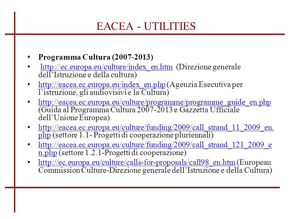 DATABASE PARTNERSHIP E in corso di redazione il database del CCP Italia destinato a: Creare una banca dati di operatori nazionali raggruppati per settori di attività Favorire i rapporti internazionali per la diffusione del concetto di progettualità europea