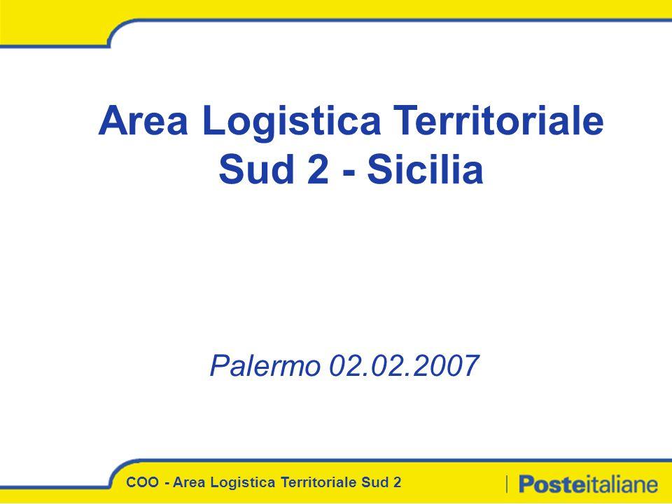 Palermo 02.02.2007 Area Logistica Territoriale Sud 2 - Sicilia COO - Area Logistica Territoriale Sud 2