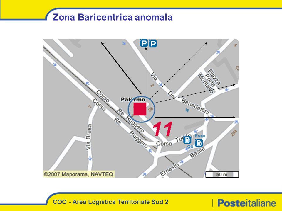 COO - Area Logistica Territoriale Sud 2 Zona Baricentrica anomala