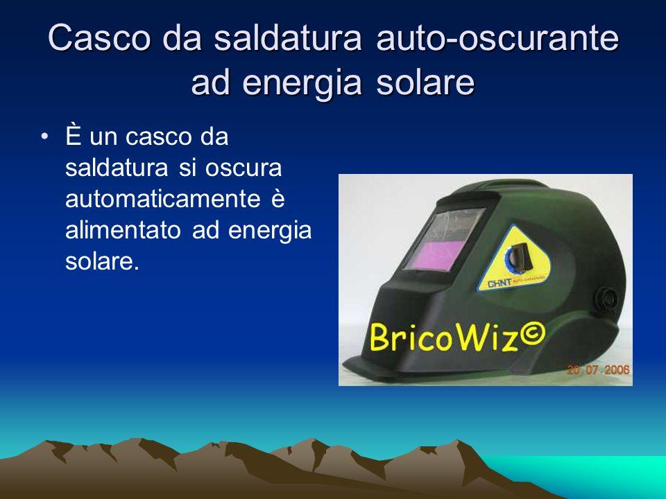 Casco da saldatura auto-oscurante ad energia solare È un casco da saldatura si oscura automaticamente è alimentato ad energia solare.