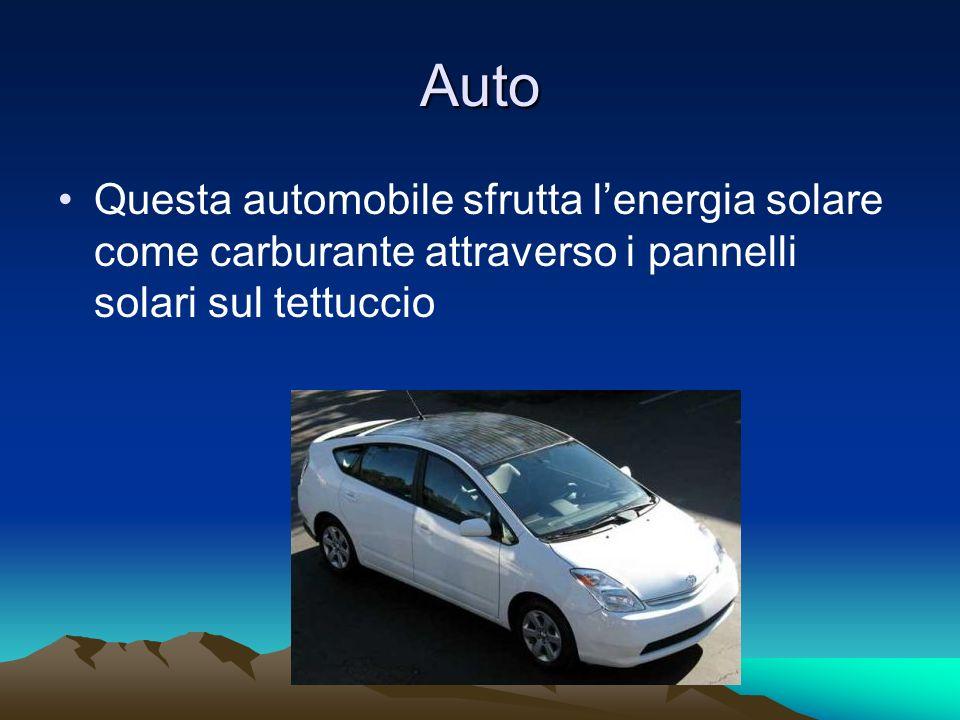 Auto Questa automobile sfrutta lenergia solare come carburante attraverso i pannelli solari sul tettuccio
