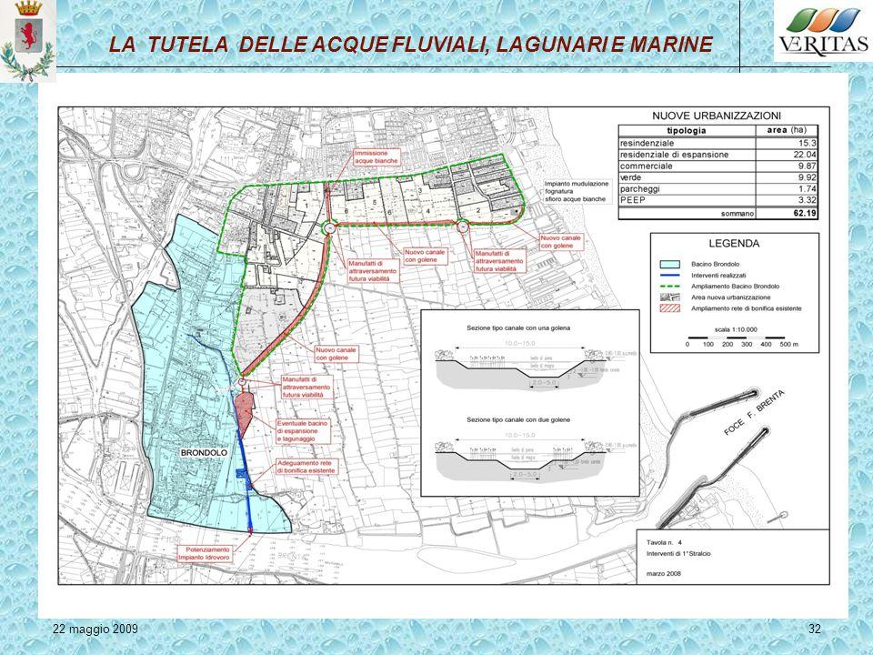 22 maggio 200932 LA TUTELA DELLE ACQUE FLUVIALI, LAGUNARI E MARINE