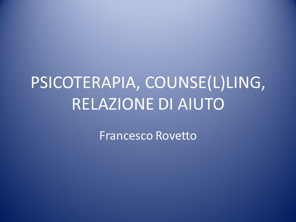 In psicoterapia si incontrano quindi pazienti affetti da una condizione patologica.