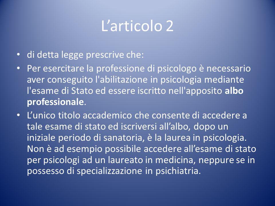 Articolo 3.Esercizio dell attività psicoterapeutica.
