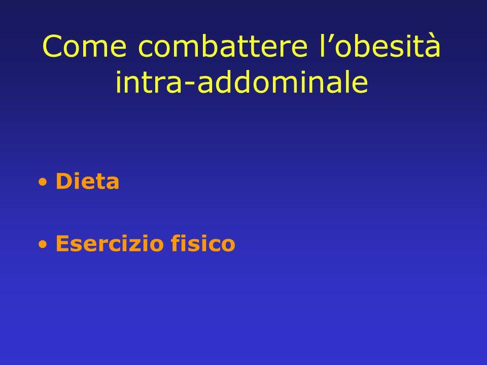 Come combattere lobesità intra-addominale Dieta Esercizio fisico