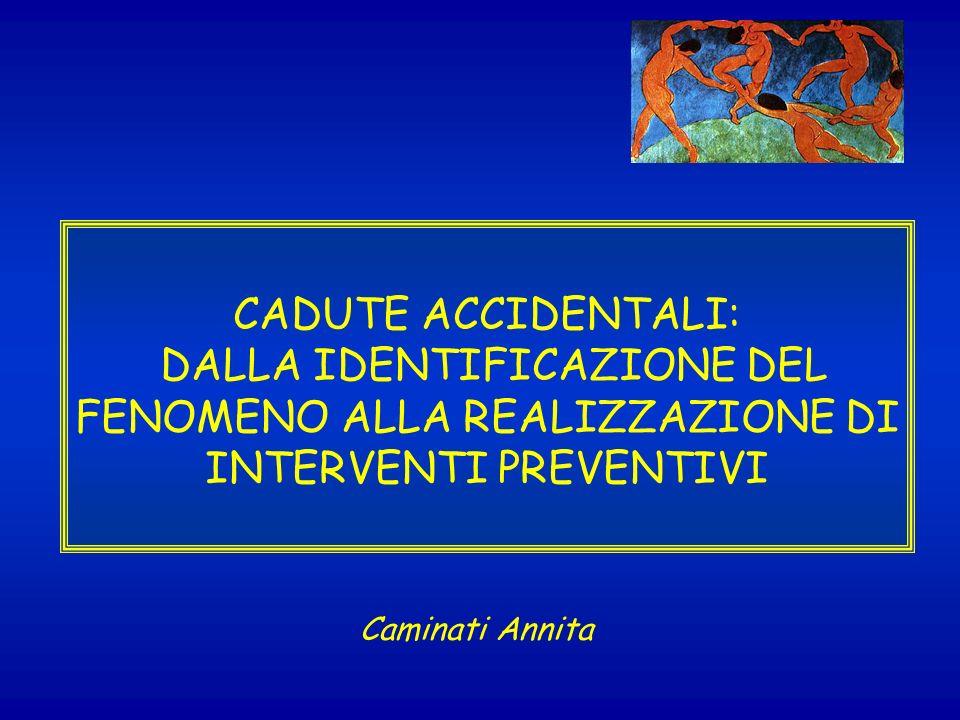 CADUTE ACCIDENTALI: DALLA IDENTIFICAZIONE DEL FENOMENO ALLA REALIZZAZIONE DI INTERVENTI PREVENTIVI Caminati Annita