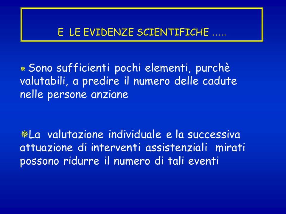 OBIETTIVO SICUREZZA: LA PREVENZIONE DELLE CADUTE ACCIDENTALI PERSONA ASSISTITA AMBIENTE RISCHI VALUTAZIONE DEL RISCHIO DEFINIZIONE PERSONALIZZATA DEL PIANO ASSISTENZIALE (EBP)