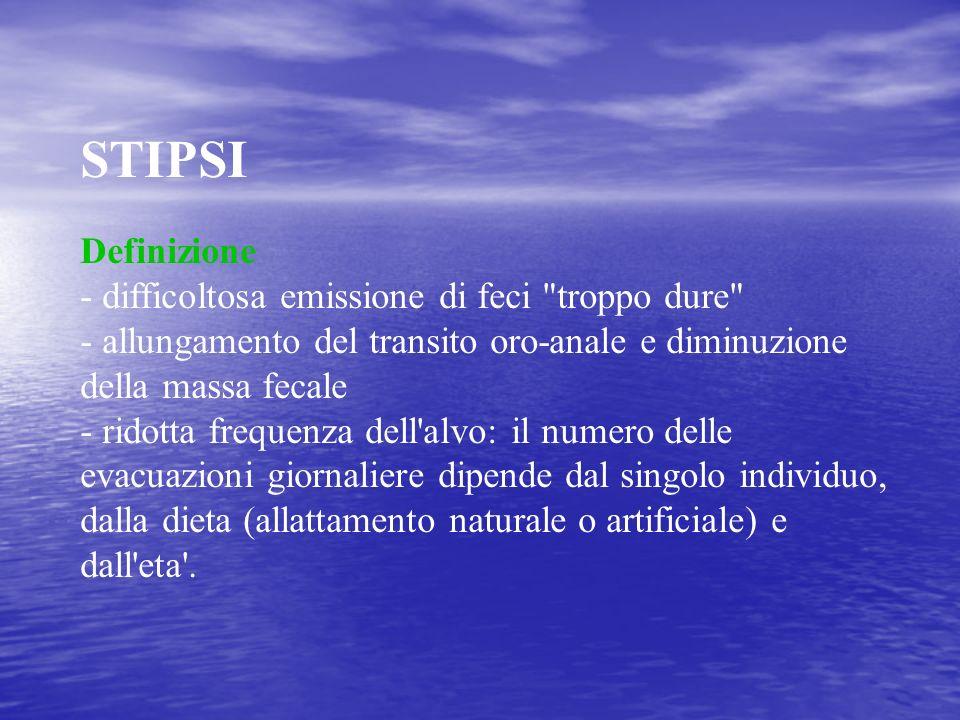 STIPSI Definizione - difficoltosa emissione di feci