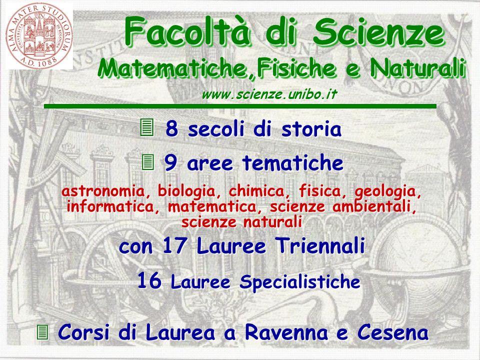 8 secoli di storia 8 secoli di storia 9 aree tematiche 9 aree tematiche astronomia, biologia, chimica, fisica, geologia, informatica, matematica, scie