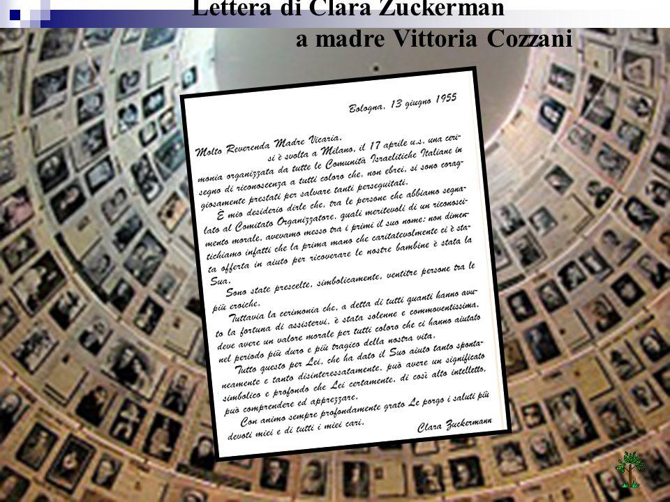 Lettera di Clara Zuckerman a madre Vittoria Cozzani