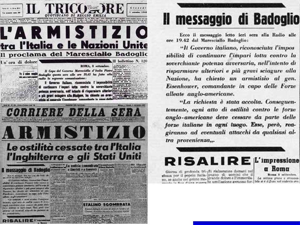 L«armistizio dell 8 settembre suscitò non solo il problema dello sbandamento nell esercito, ma anche quello, non meno grave nel piacentino, degli ex internati nei campi di prigionia che si diedero alla fuga.