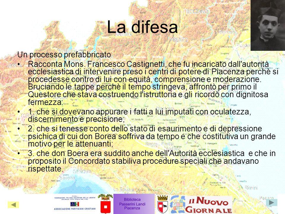 La difesa Un processo prefabbricato Racconta Mons.