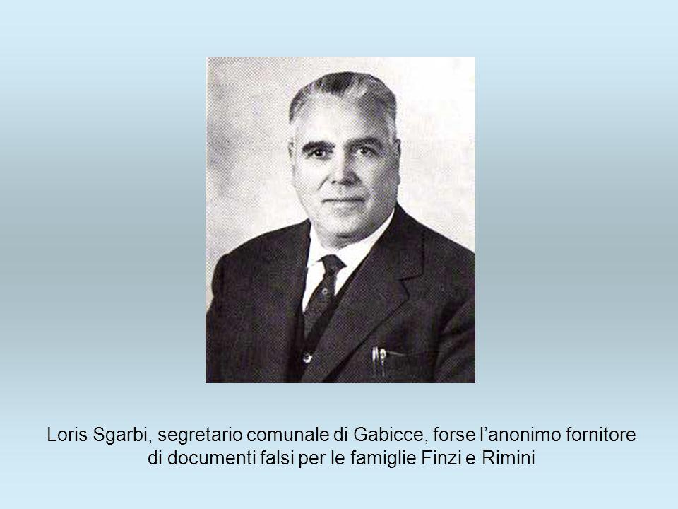 Loris Sgarbi, segretario comunale di Gabicce, forse lanonimo fornitore di documenti falsi per le famiglie Finzi e Rimini